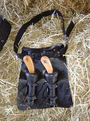 belt to protect hoof-trimming knives