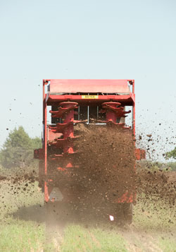 applying nutrients to field