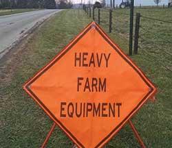 Heavy Farm Equipment road sign