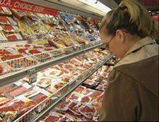 consumer purchasing meat