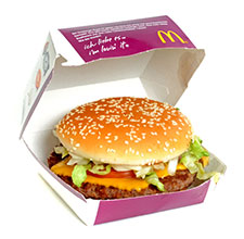 McDonald's burger in Germany