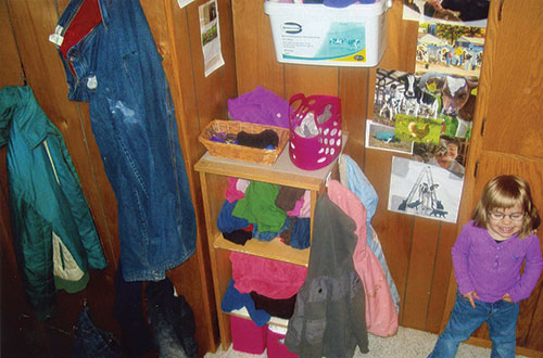 organized barn clothes