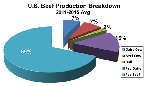 U.S. Beef Production Breakdown