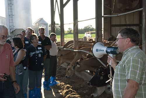 farmer talking to consumers
