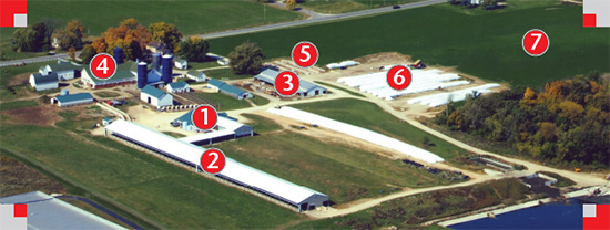 ariel view of Hoard's Dairyman Farm