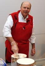 Steve Larson scooping ice cream