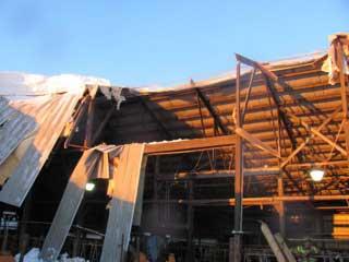Minglewood barn collapse