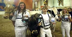Pa Farm Show Class IV showmanship winners
