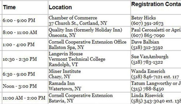 Seminar-locations