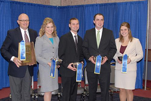 University of Minnesota dairy judging team