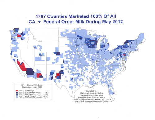 Milk Production And Dairy Farms Continue To Consolidate - Where are the dairyon the us map
