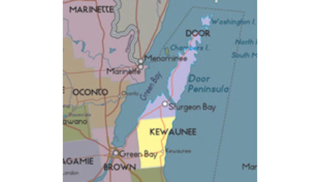 door-kewaunee-map