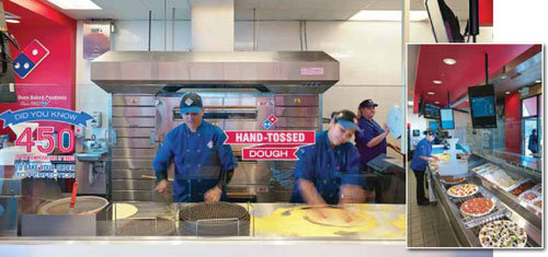 Domino's pizza makers